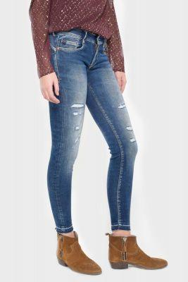 Talara pulp slim 7/8th jeans destroy vintage blue N°2