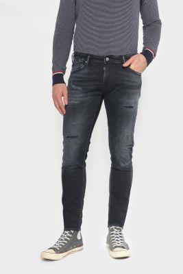 Jogg 700/11 slim jeans destroy bleu-noir N°1