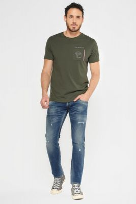Trial 700/11 slim jeans destroy bleu N°2
