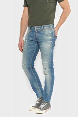 Winkler 700/11 slim jeans destroy vintage bleu N°3