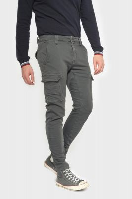 Tapered charcoal grey Durbuy trousers