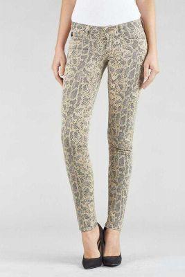 Jeans Lidgie à motif python