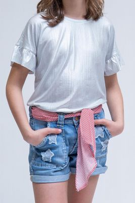 Silver Roadgi Top for Girls