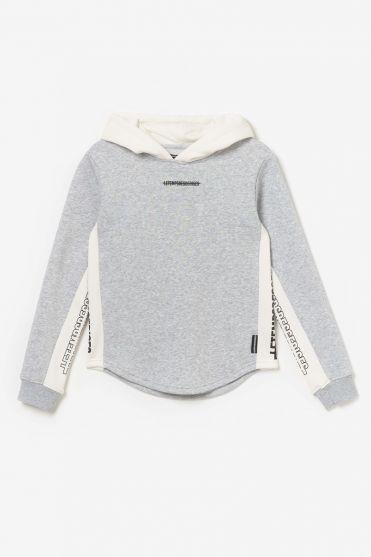 Sweat Colorabo gris et blanc imprimé