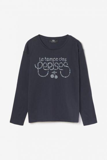 Printed navy blue Jamilagi t-shirt