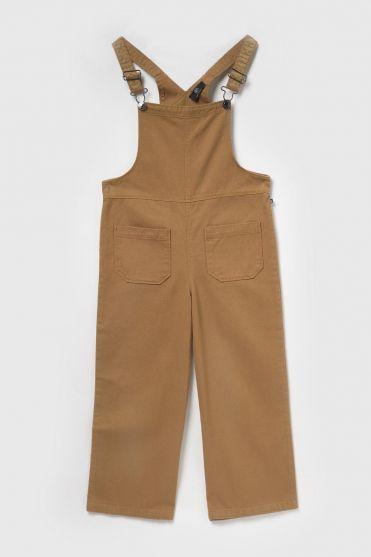 Pantalon salopette large Negagi en jeans camel