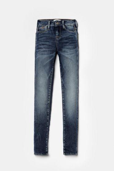 Ultra power taille haute skinny jeans bleu N°2