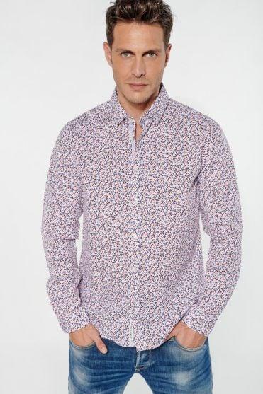 Chemise Pavar blanche à motif fleuri