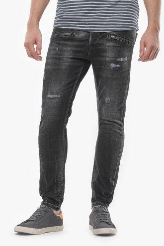 Rubbens 900/15 tapered 7/8ème jeans destroy gris N°1