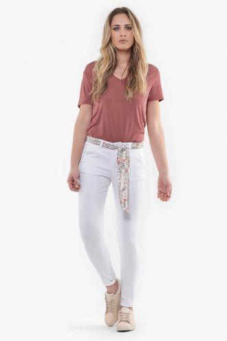 Pantalon chino Lidy slim blanc
