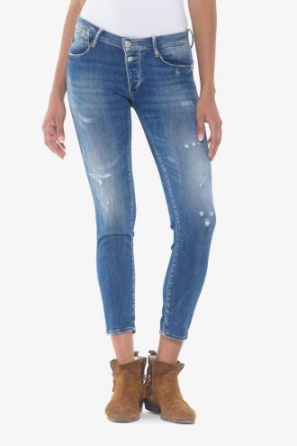 Fino pulp slim 7/8ème jeans destroy bleu N°3