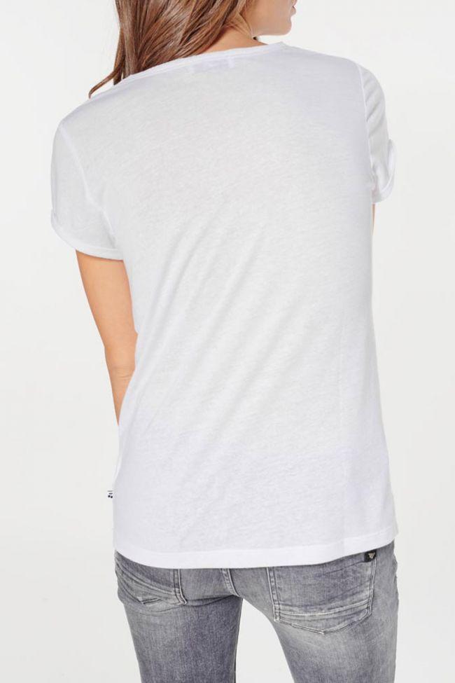 Printed white Basitrame t-shirt