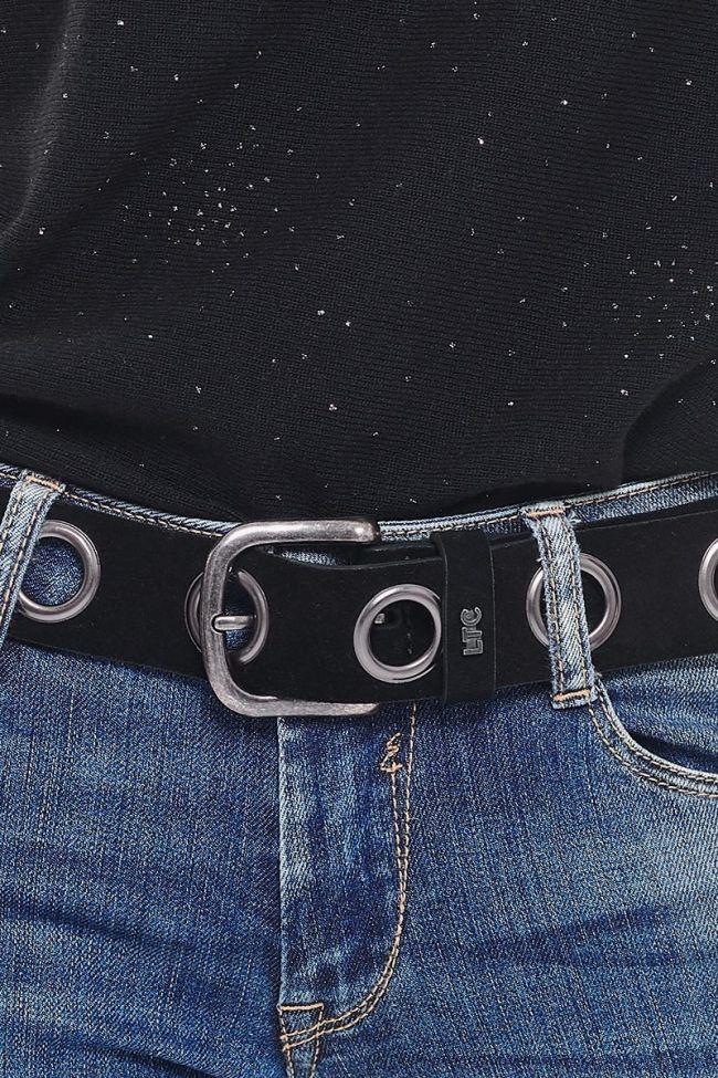 Black suede Caylie belt