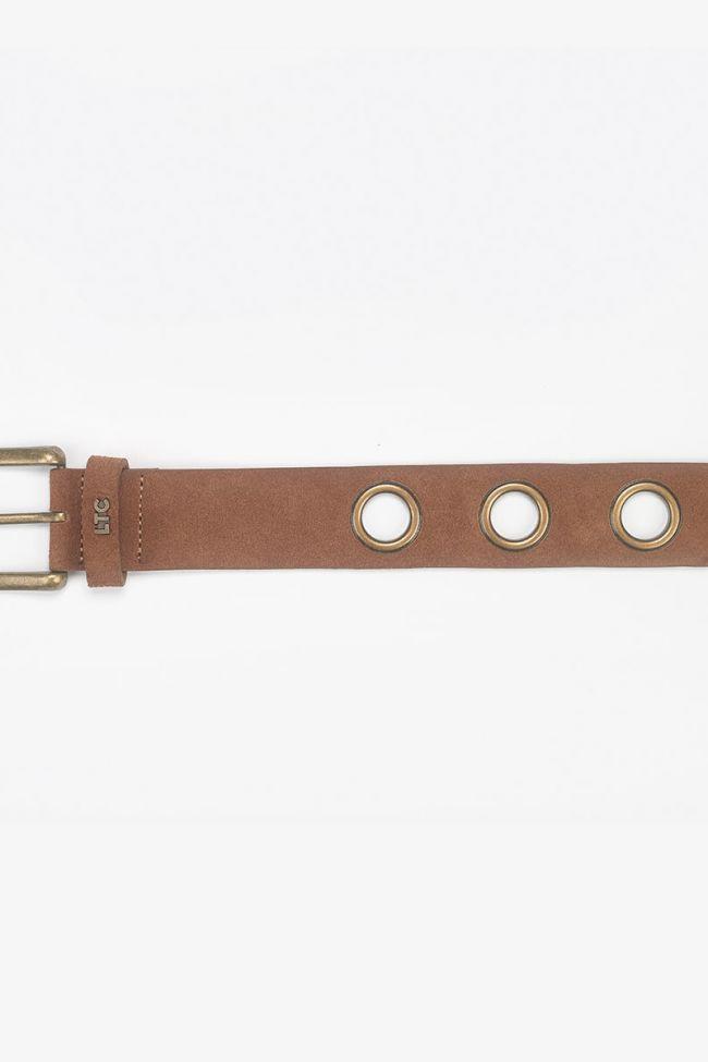 Cognac suede Caylie belt