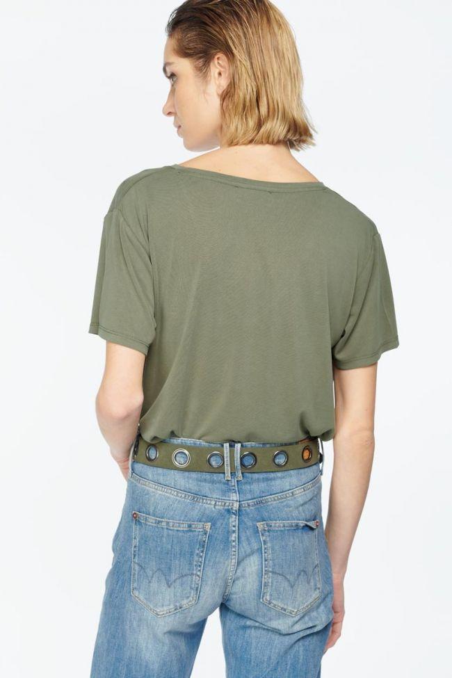 Khaki suede Caylie belt