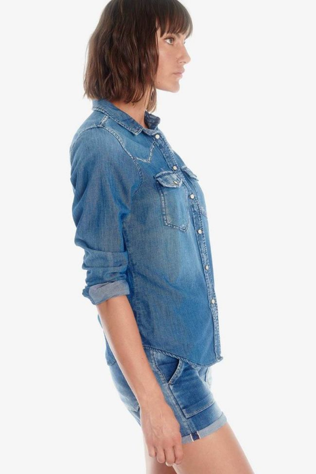 Juanita blue denim shirt