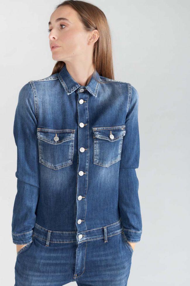 Combinaison en jeans Sena bleue