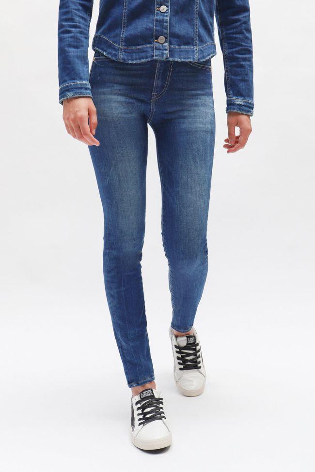 Blue High Waist Power Skinny Jeans