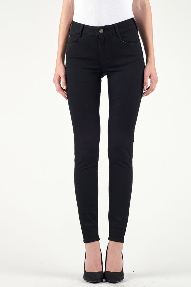 Pulp slim high waist jeans pure black N°0