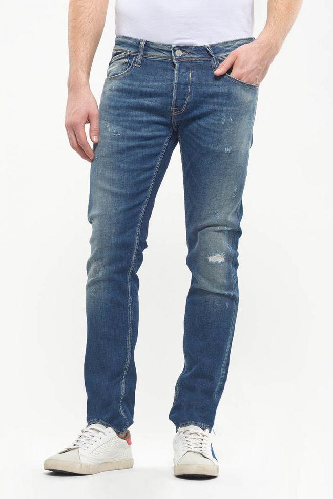 Jeans 700/11 slim Basico destroy bleu N°2