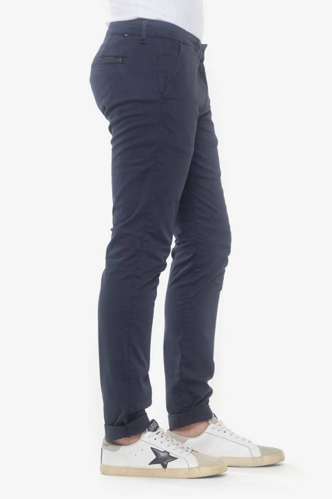 Pantalon chino slim Jas marine