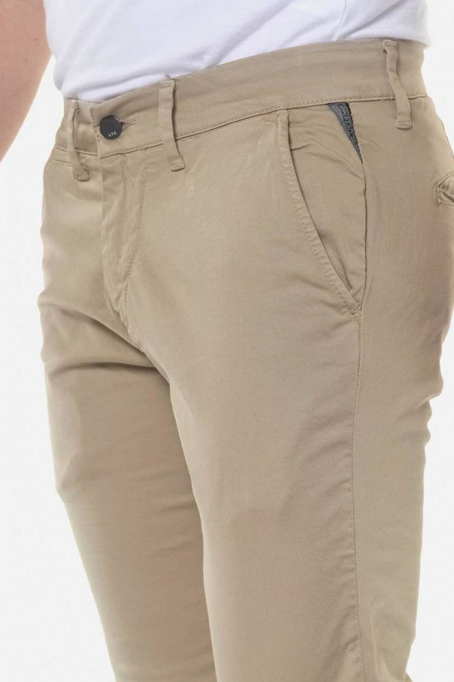 Pantalon chino slim Jas beige