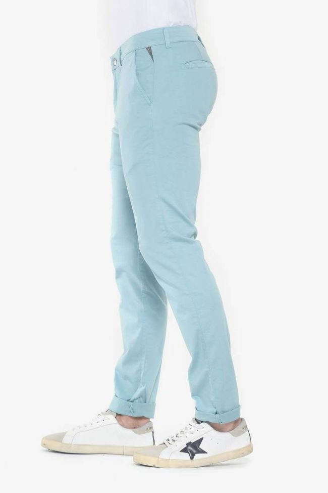 Pantalon chino slim Jas bleu