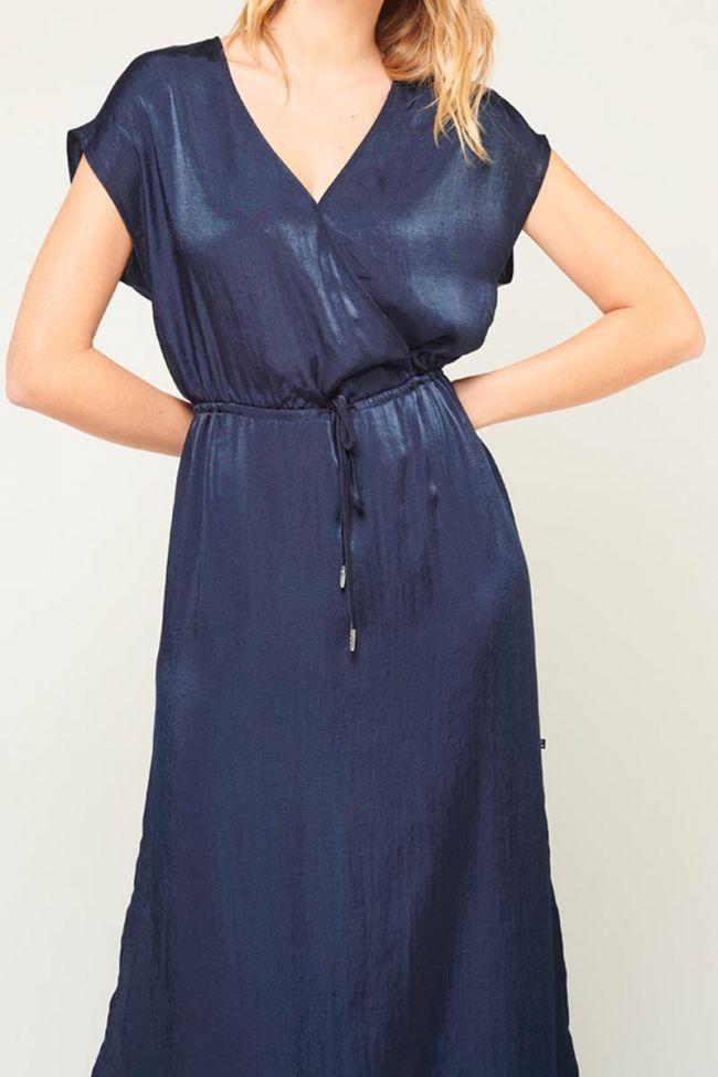 Robe longue Maly bleu nuit