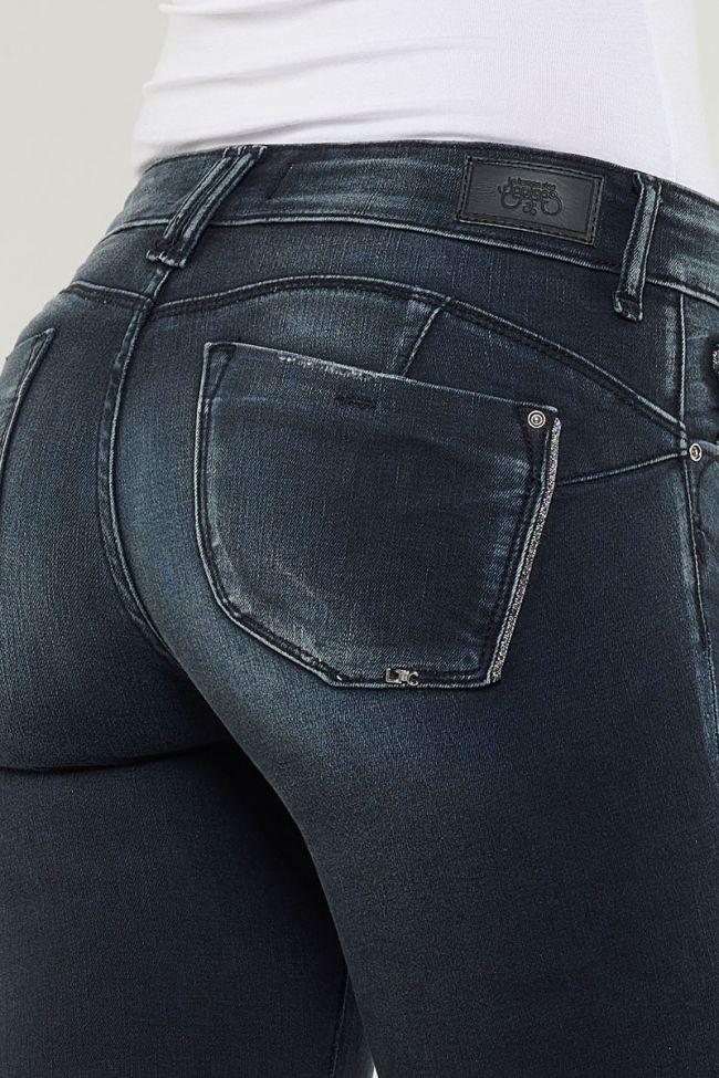 Jeans Pulp Slim 7/8eme Noir Bleu