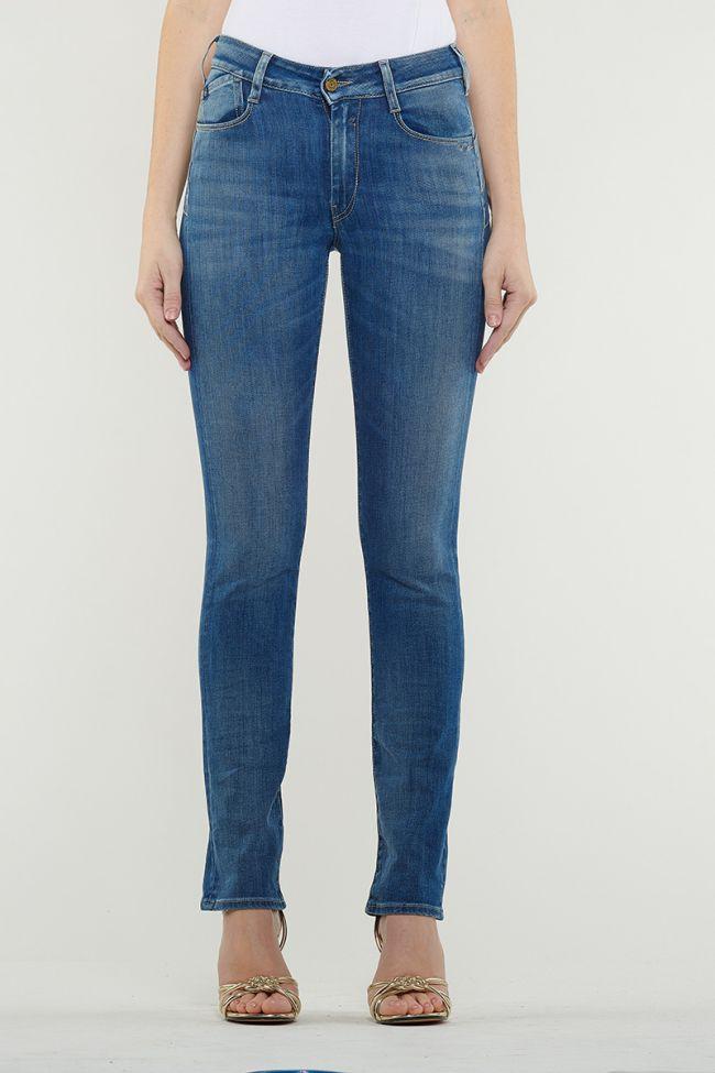 Jeans Pulp Regular Taille Haute Bleu