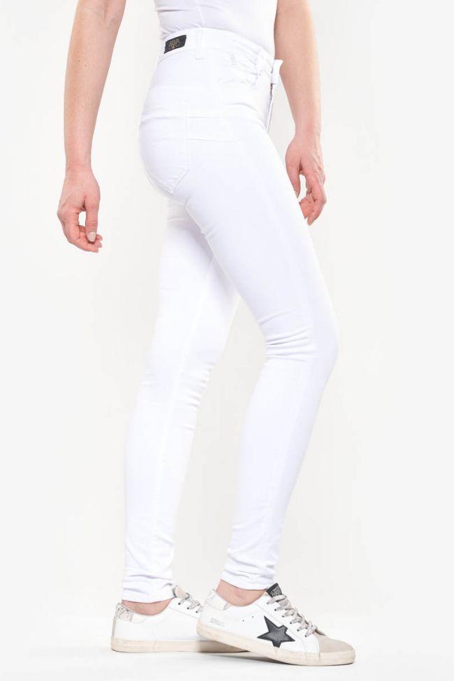 Jeans Pulp slim taille haute blanc