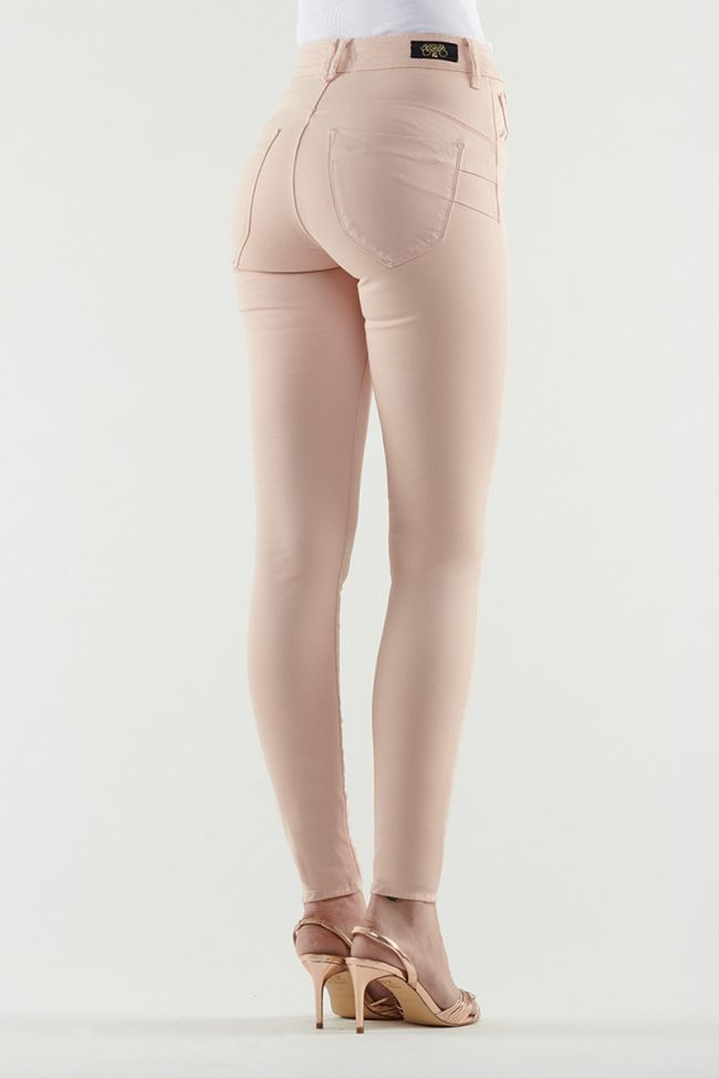 Jeans Pulp Slim Taille Haute rose