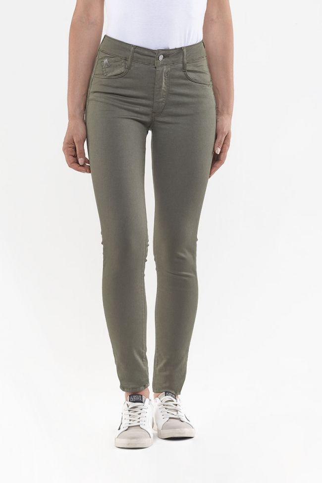 Jeans Pulp Slim Taille Haute Kaki