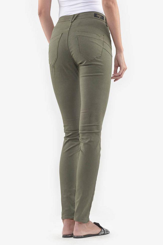 High Waist Pulp Slim Jeans Khaki
