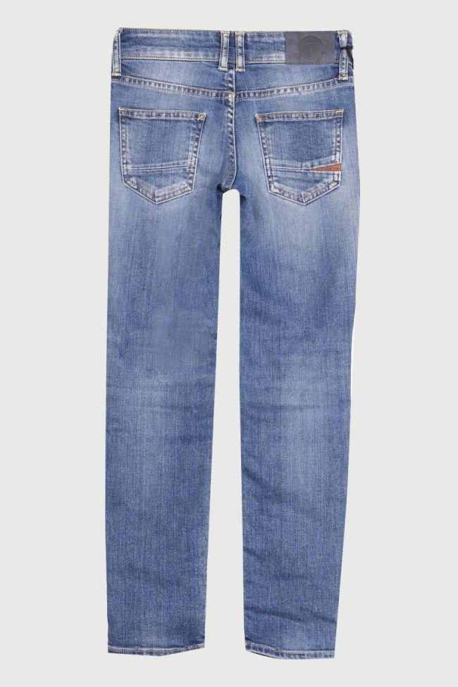 Jeans 100/9 bleu clair délavé