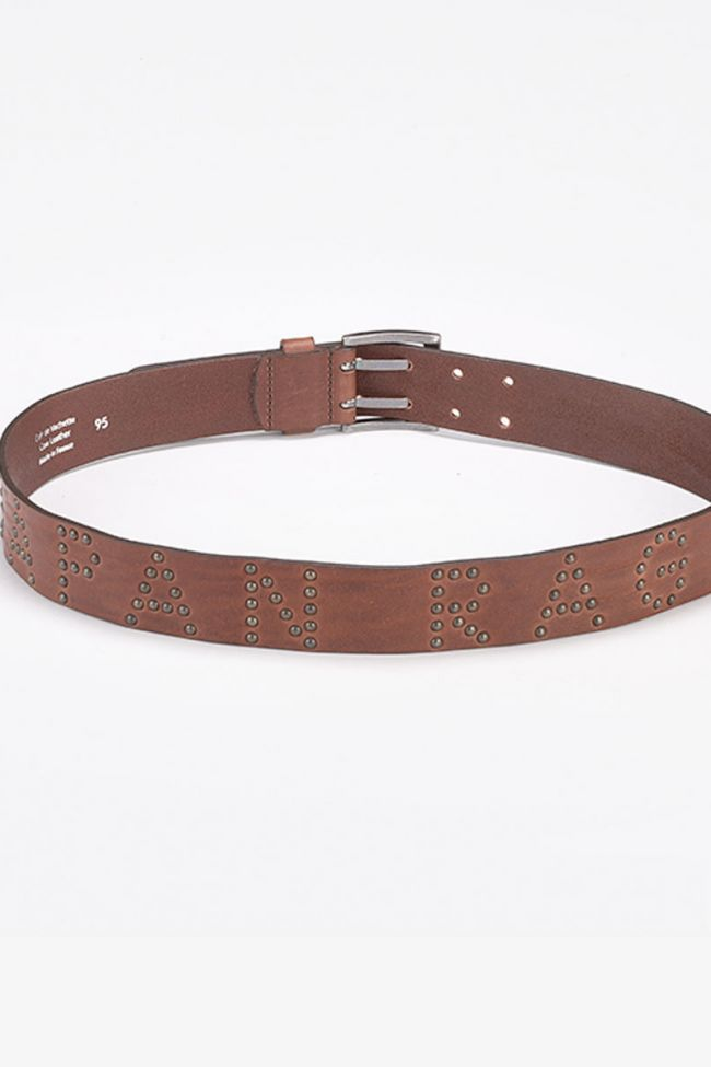Rags brown leather belt