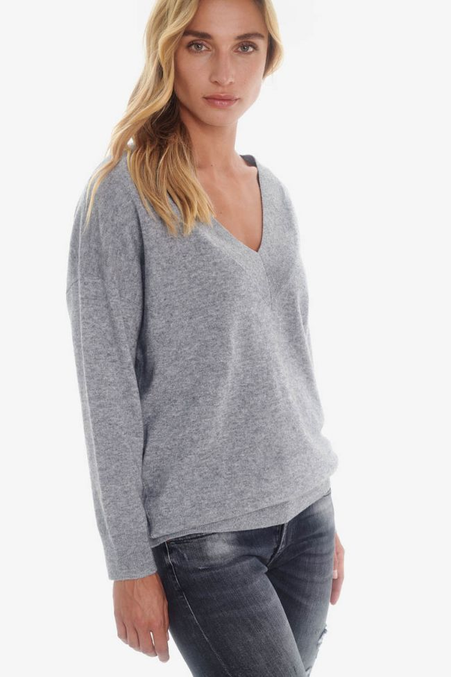 Wool and cashmere grey pullover