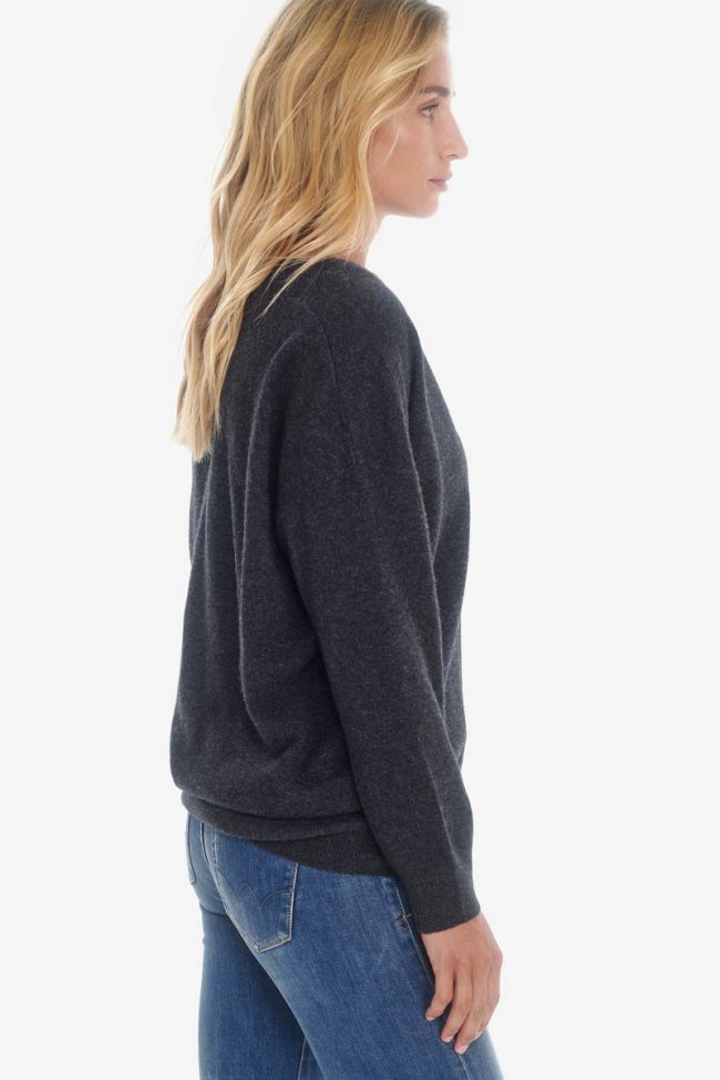 Wool and cashmere dark grey pullover