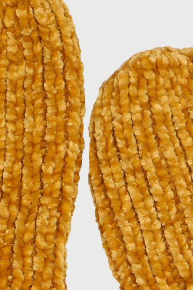 Dallas Mustard Yellow Mittens