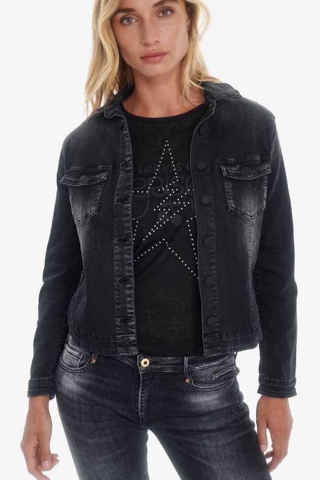 Lilly Black Denim Jacket