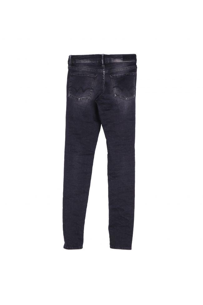 Jeans Power Skinny noir délavé