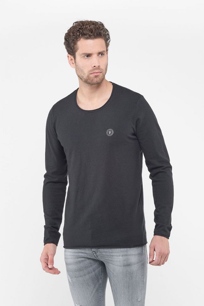 Terry black pullover