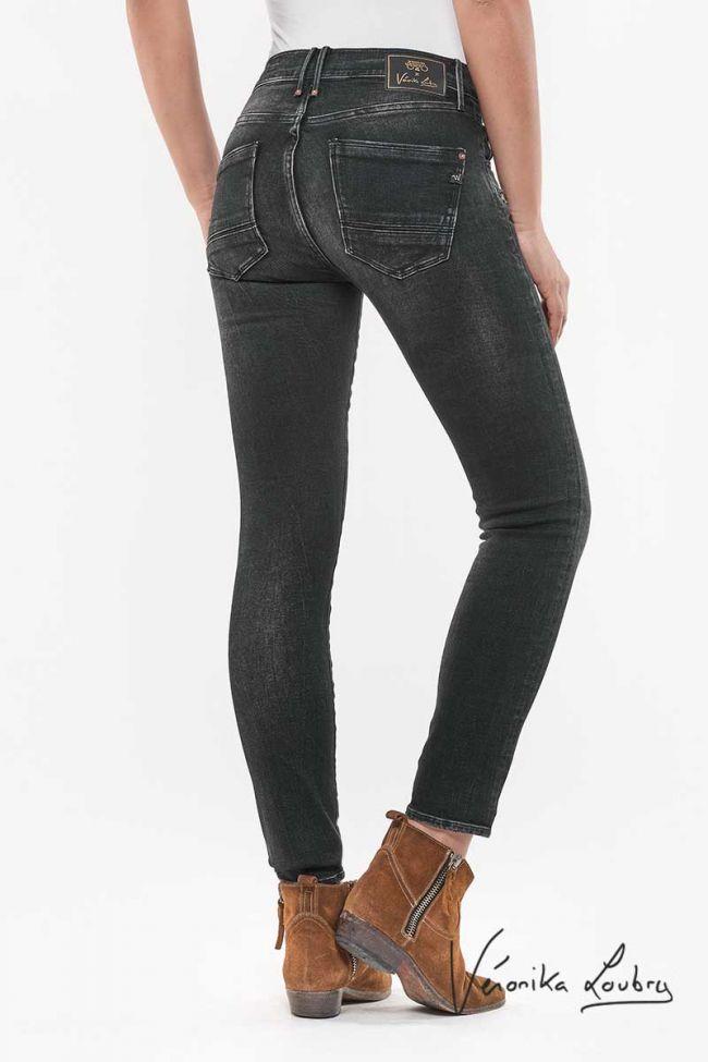 Jeans Power Taille haute Noir Santorin