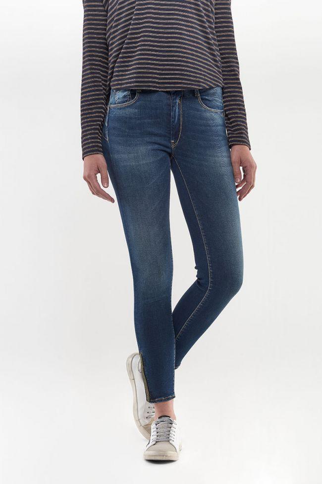 Jeans Pulp Slim Taille Haute Bleu