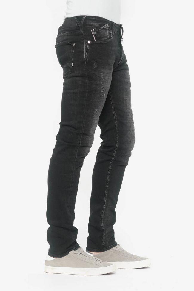 Basic 600/17 adjusted jeans destroy noir N°1