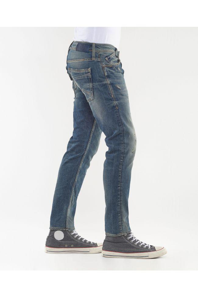 Basic 700/11 slim jeans destroy vintage bleu N°2