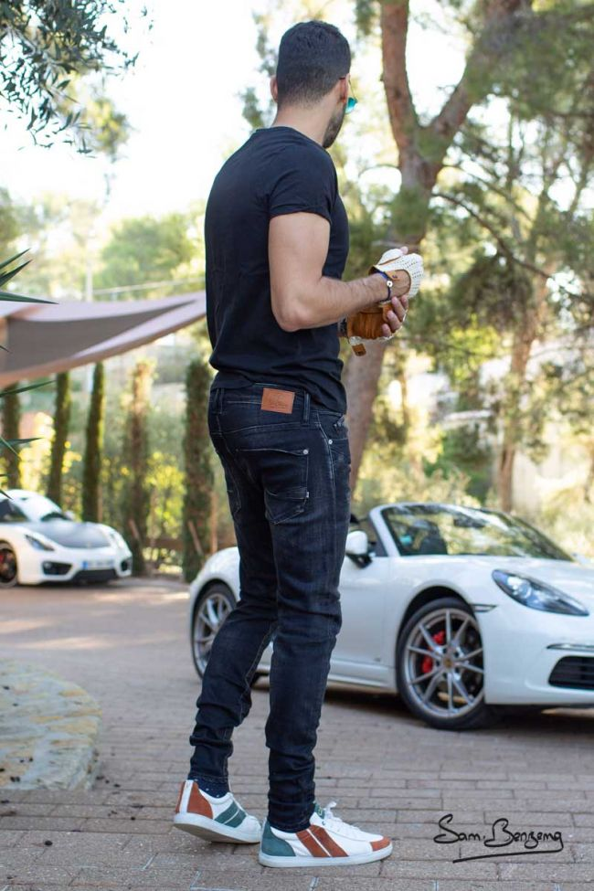 Jeans Power Skinny Noir Destroy Samir Benzema