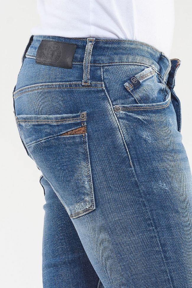 Power Skinny Jeans Stonewashed Blue