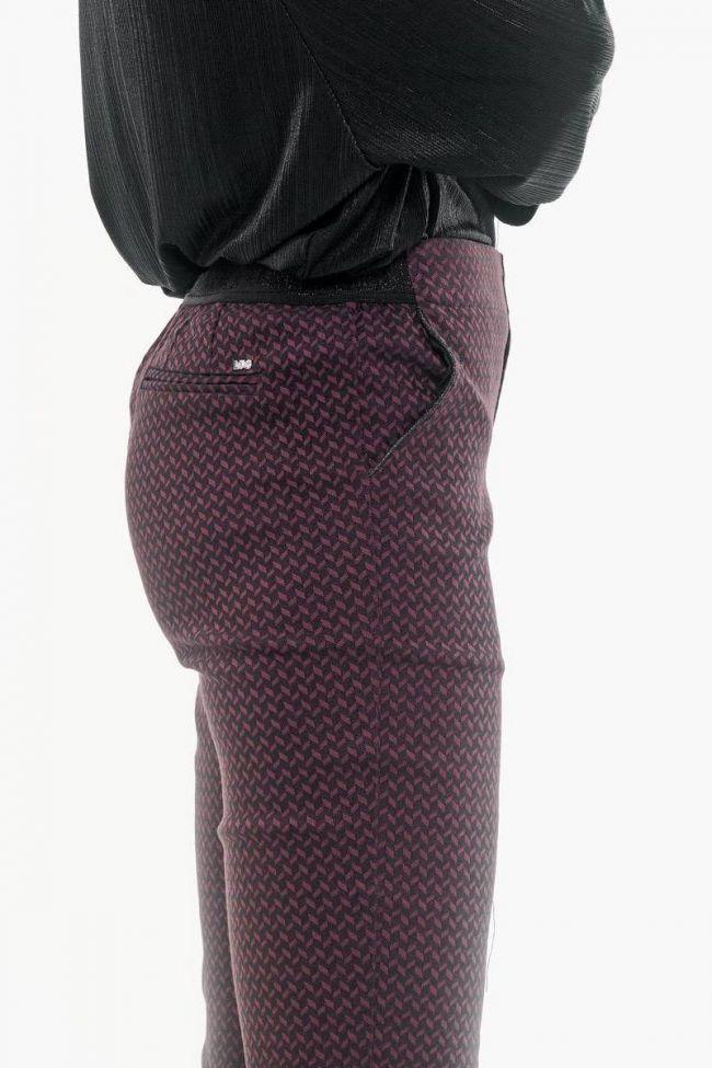 Pantalon Bill bordeaux