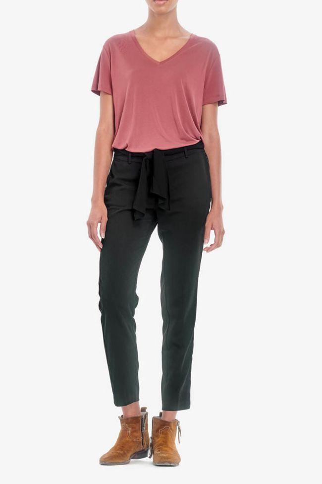 Black Magnolia Trousers